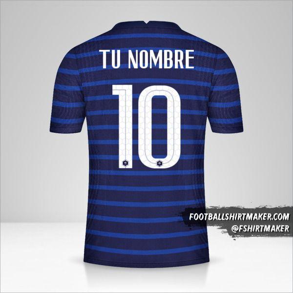 Camiseta Francia 2020/2021 número 10 tu nombre