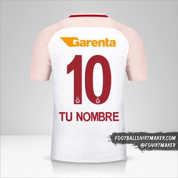 Camiseta Galatasaray SK 2017/18 II número 10 tu nombre