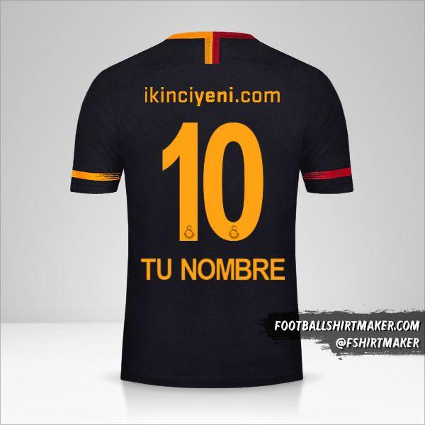 Camiseta Galatasaray SK 2018/19 II número 10 tu nombre