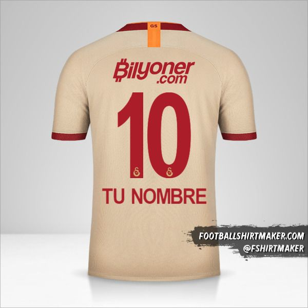 Camiseta Galatasaray SK 2019/20 II número 10 tu nombre