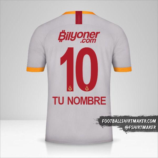 Camiseta Galatasaray SK 2019/20 III número 10 tu nombre