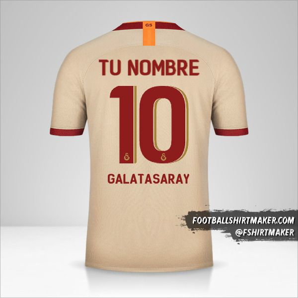 Camiseta Galatasaray SK 2019/20 Cup II número 10 tu nombre