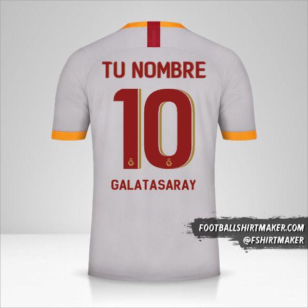 Camiseta Galatasaray SK 2019/20 Cup III número 10 tu nombre