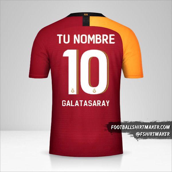 Camiseta Galatasaray SK 2019/20 Cup número 10 tu nombre