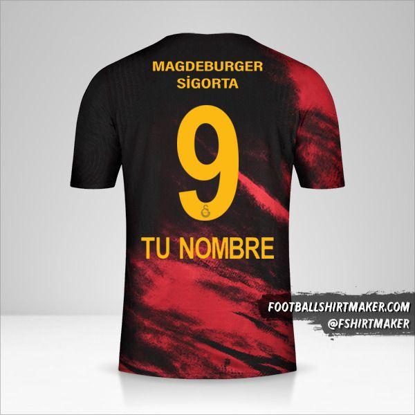 Camiseta Galatasaray SK 2020/21 II número 9 tu nombre