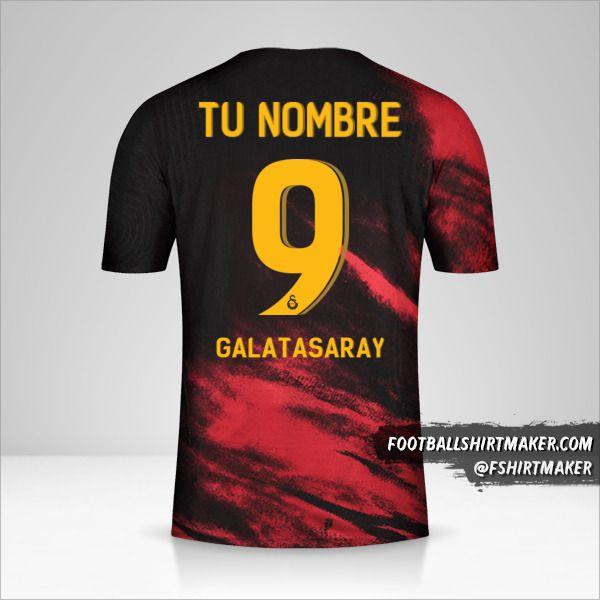 Camiseta Galatasaray SK 2020/21 Cup II número 9 tu nombre