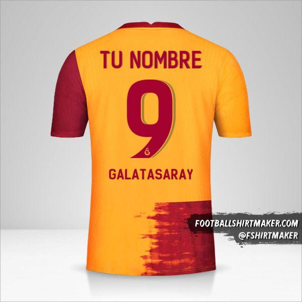 Camiseta Galatasaray SK 2020/21 Cup número 9 tu nombre