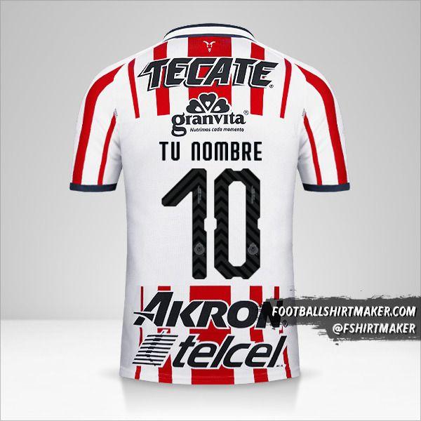Camiseta Guadalajara 2018/19 número 10 tu nombre