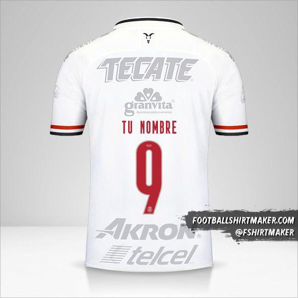 Camiseta Guadalajara 2019/20 III número 9 tu nombre
