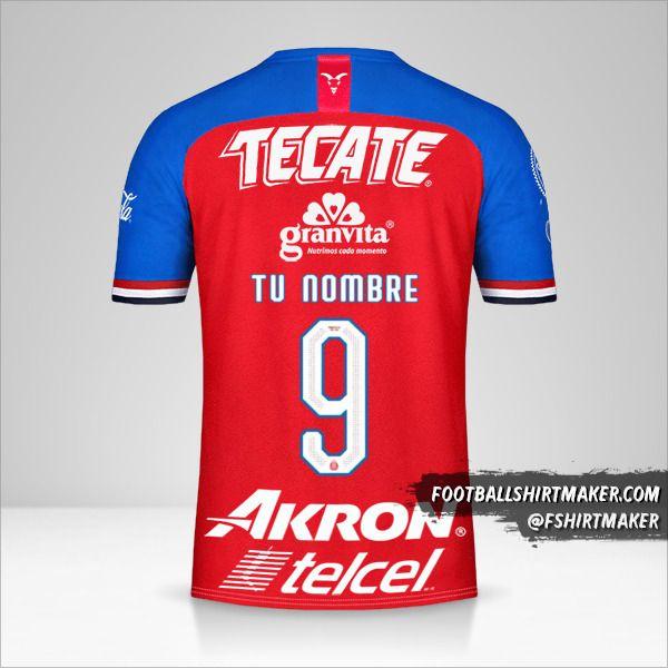 Camiseta Guadalajara 2019/20 número 9 tu nombre