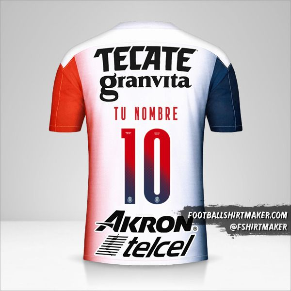 Camiseta Guadalajara 2020/21 II número 10 tu nombre