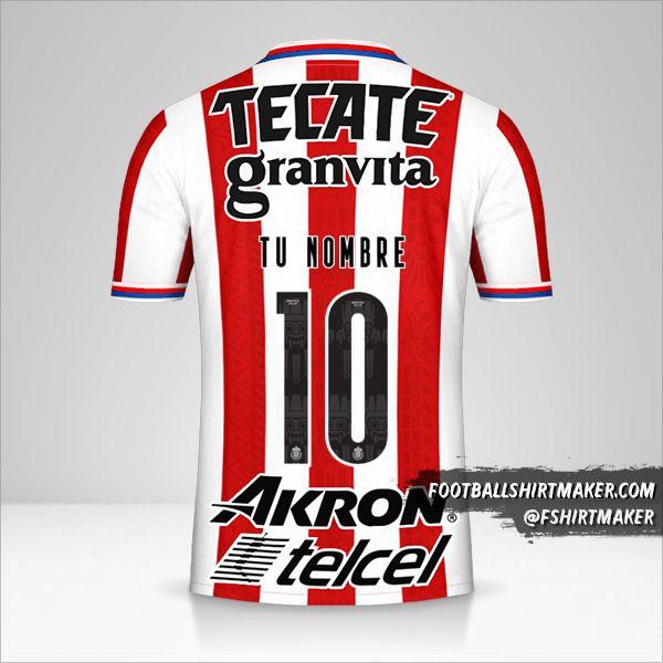 Camiseta Guadalajara 2020/21 número 10 tu nombre