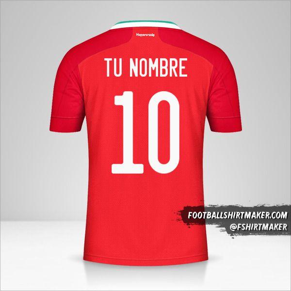 Camiseta Hungria 2020/2021 número 10 tu nombre