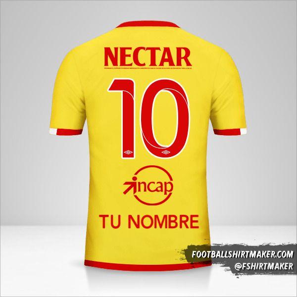 Camiseta Independiente Santa Fe 2017 III número 10 tu nombre