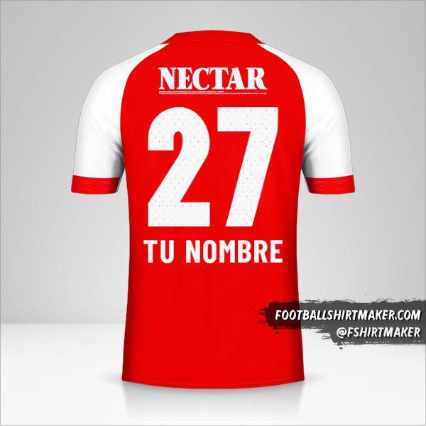 Camiseta Independiente Santa Fe 2019 número 27 tu nombre