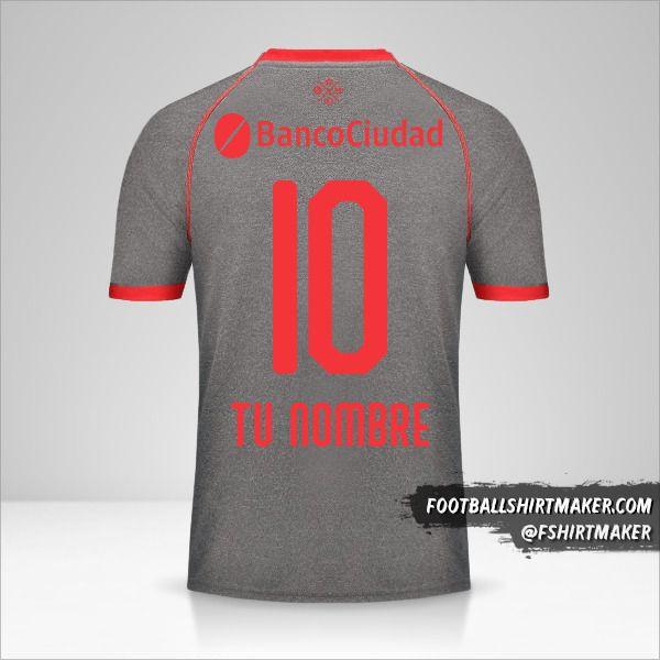 Camiseta Independiente 2018/19 III número 10 tu nombre