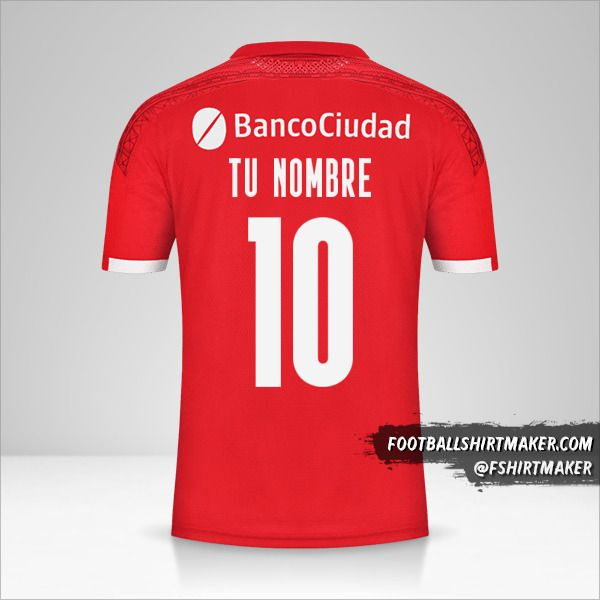 Camiseta Independiente 2021 número 10 tu nombre