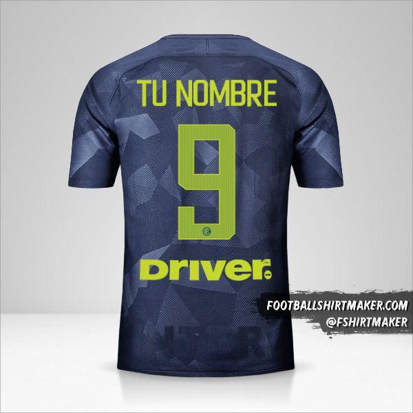 Camiseta Inter 2017/18 III número 9 tu nombre