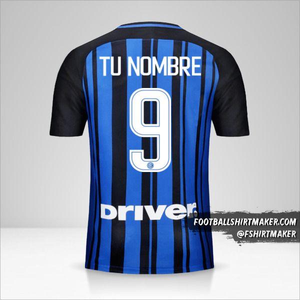 Camiseta Inter 2017/18 número 9 tu nombre