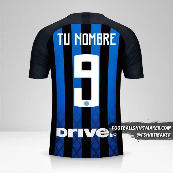 Camiseta Inter 2018/19 número 9 tu nombre