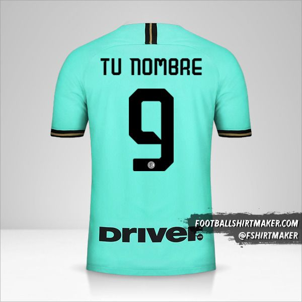 Camiseta Inter 2019/20 II número 9 tu nombre
