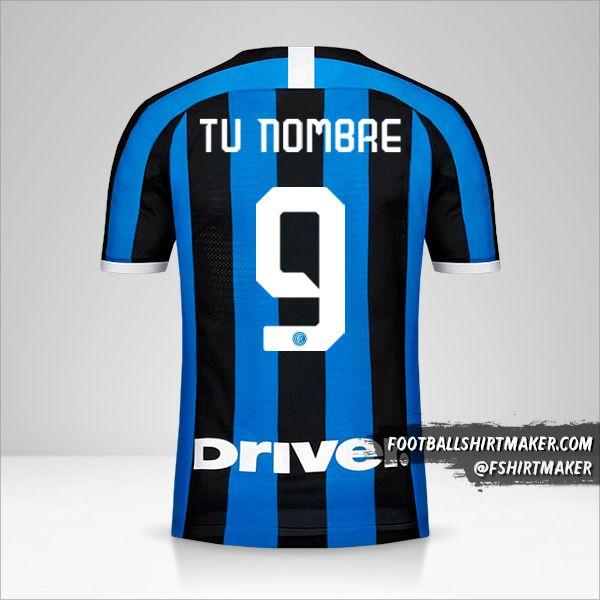 Camiseta Inter 2019/20 número 9 tu nombre