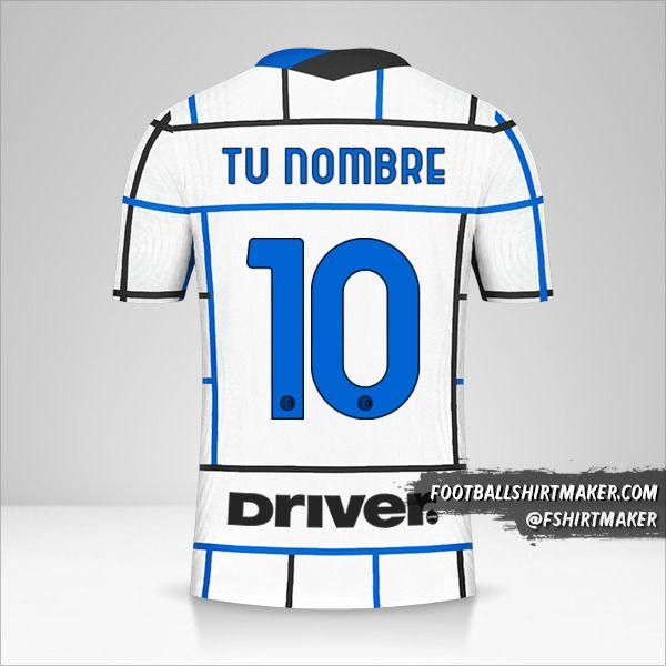 Camiseta Inter 2020/21 II número 10 tu nombre
