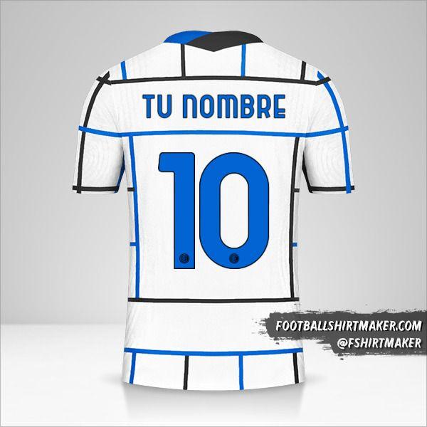 Camiseta Inter 2020/21 Cup II número 10 tu nombre