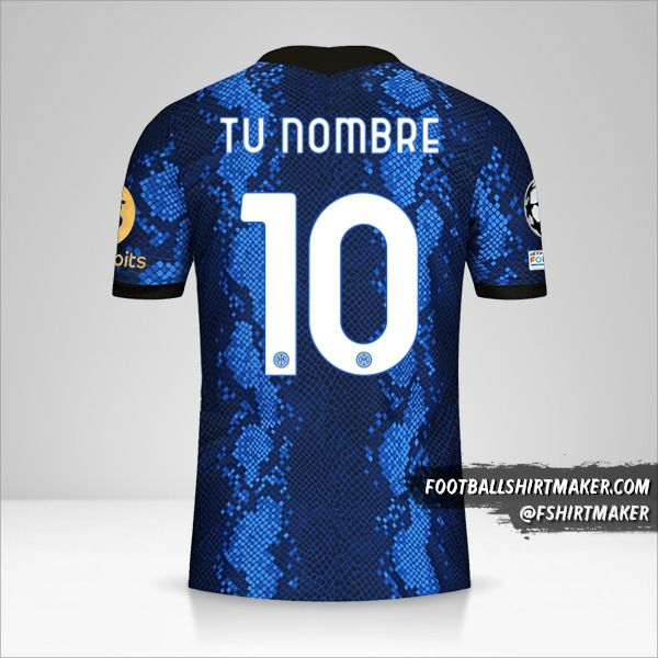 Camiseta Inter 2021/2022 Cup número 10 tu nombre