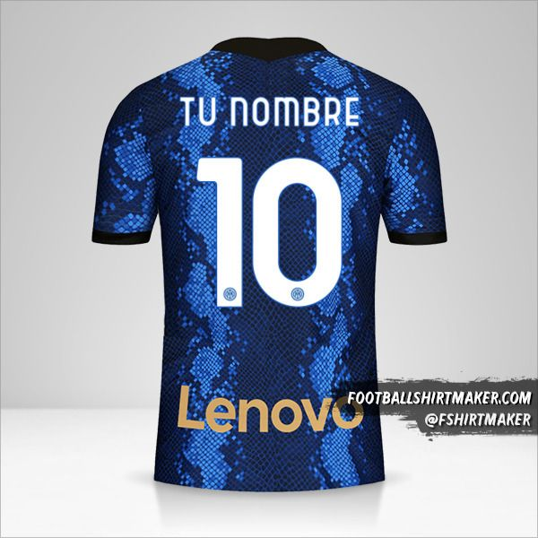 Camiseta Inter 2021/2022 número 10 tu nombre