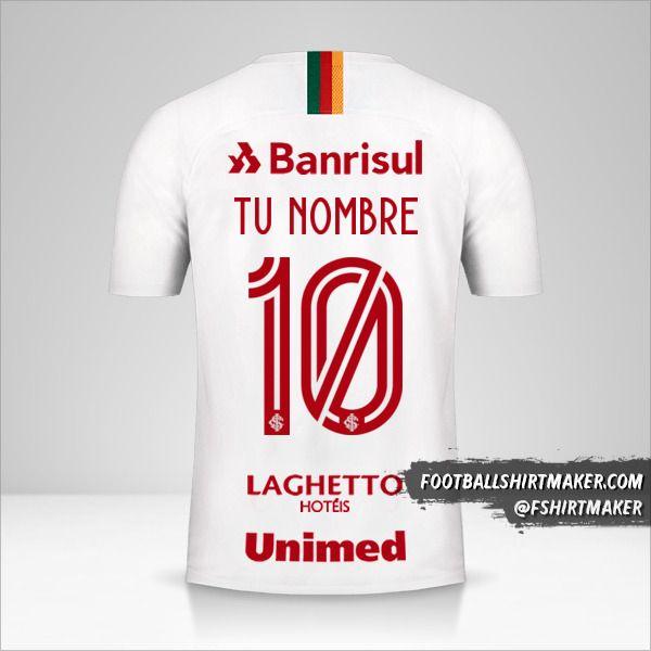 Camiseta Internacional 2019/20 II número 10 tu nombre