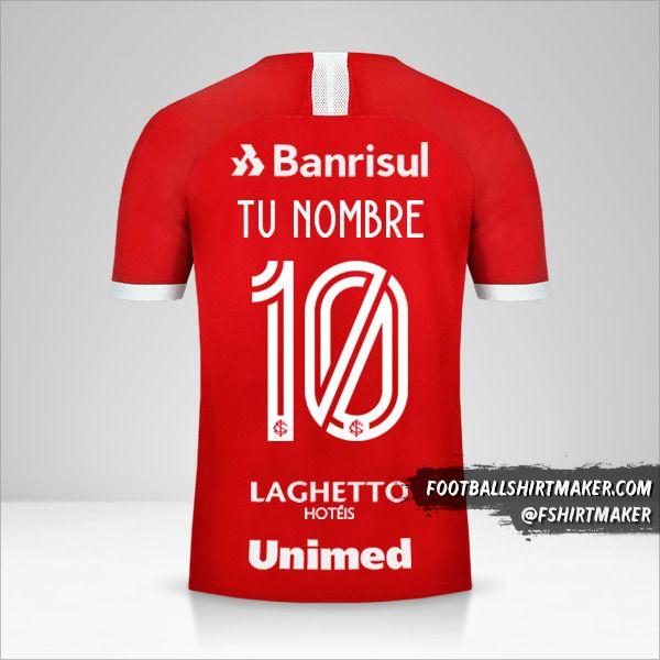 Camiseta Internacional 2019/20 número 10 tu nombre