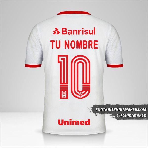 Camiseta Internacional 2020 II número 10 tu nombre