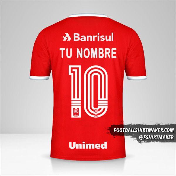 Camiseta Internacional 2020 número 10 tu nombre