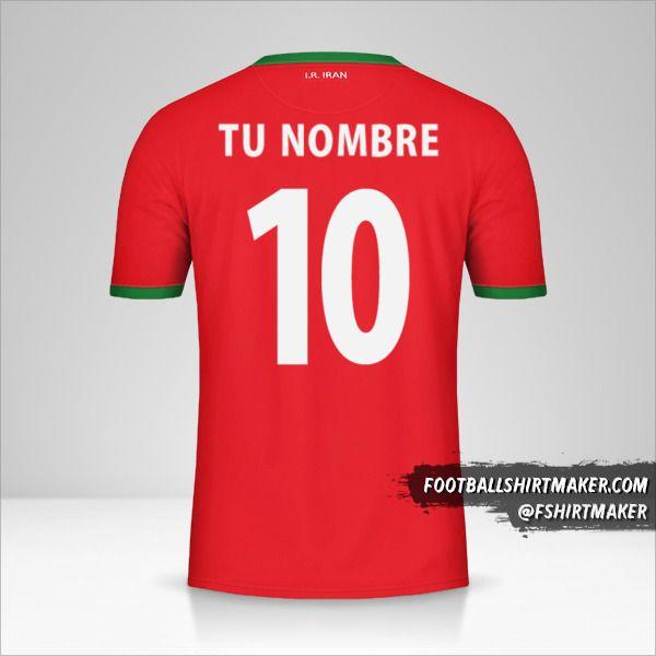 Camiseta Iran 2014 II número 10 tu nombre
