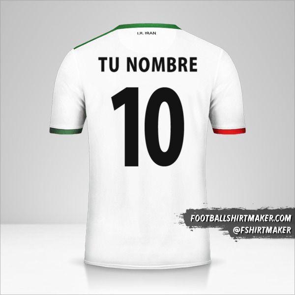 Camiseta Iran 2014 número 10 tu nombre