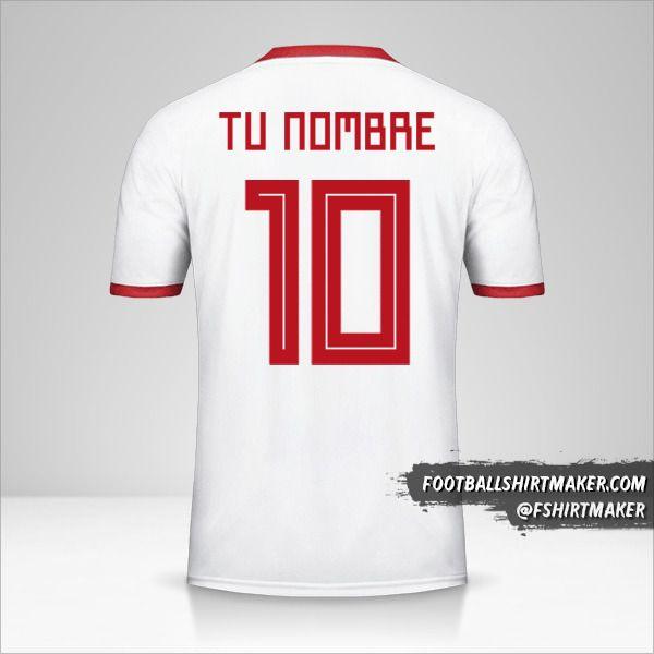 camiseta Iran 2018 número 10 tu nombre