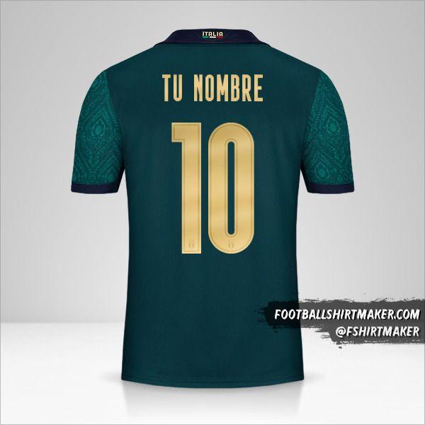 Camiseta Italia 2019 Renaissance número 10 tu nombre