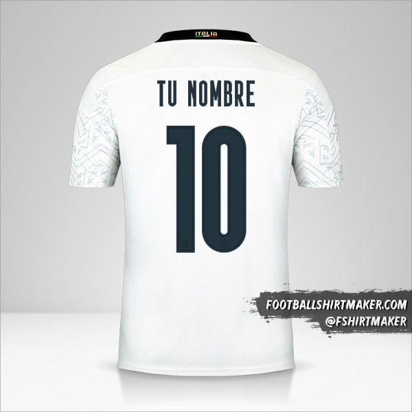 Camiseta Italia 2020 II número 10 tu nombre