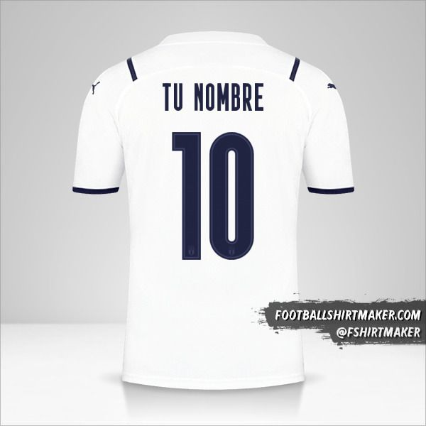 Camiseta Italia 2021II número 10 tu nombre