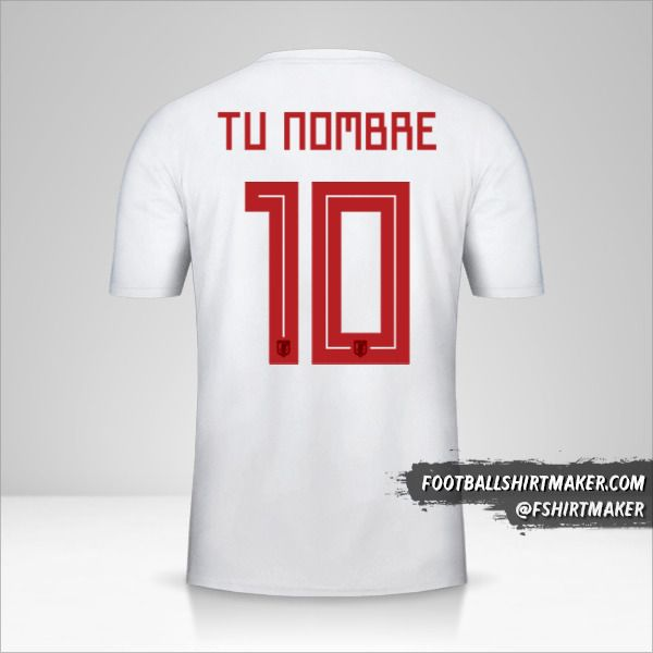 Camiseta Japon 2018 II número 10 tu nombre