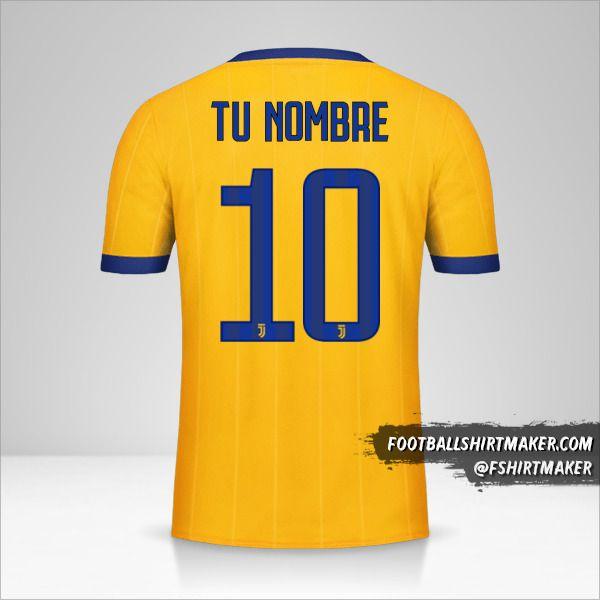 Camiseta Juventus FC 2017/18 II número 10 tu nombre