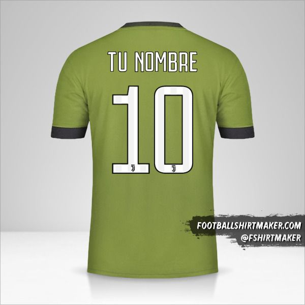 Camiseta Juventus FC 2017/18 III número 10 tu nombre