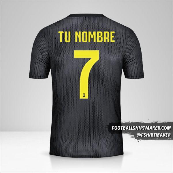 Camiseta Juventus FC 2018/19 III Cup número 7 tu nombre