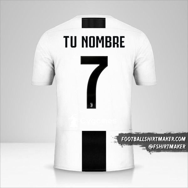 Camiseta Juventus FC 2018/19 Cup número 7 tu nombre
