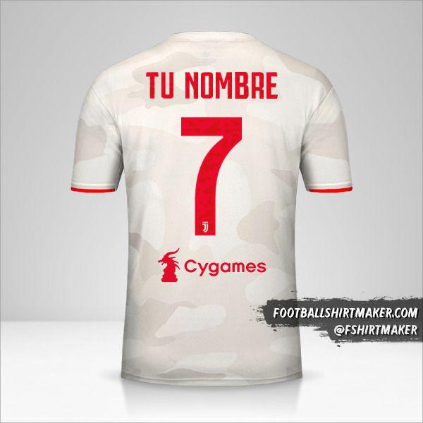 Camiseta Juventus FC 2019/20 II número 7 tu nombre