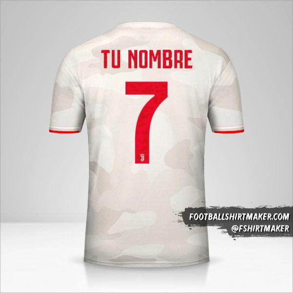 Camiseta Juventus FC 2019/20 Cup II número 7 tu nombre