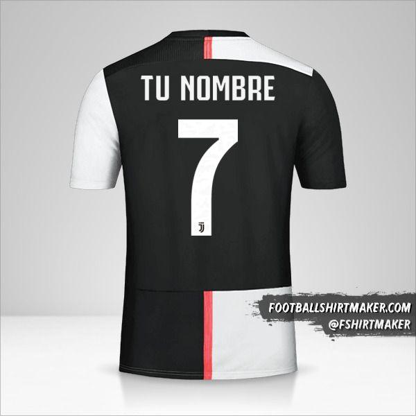 camiseta Juventus FC 2019/20 Cup número 7 tu nombre