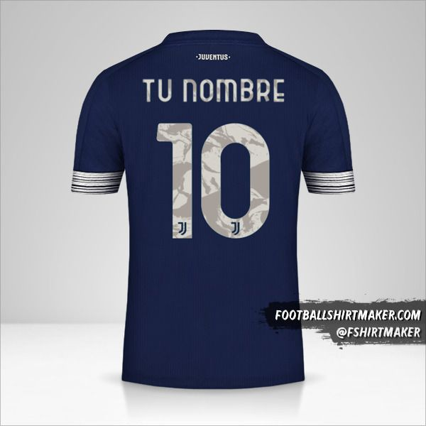 Camiseta Juventus FC 2020/21 Cup II número 10 tu nombre