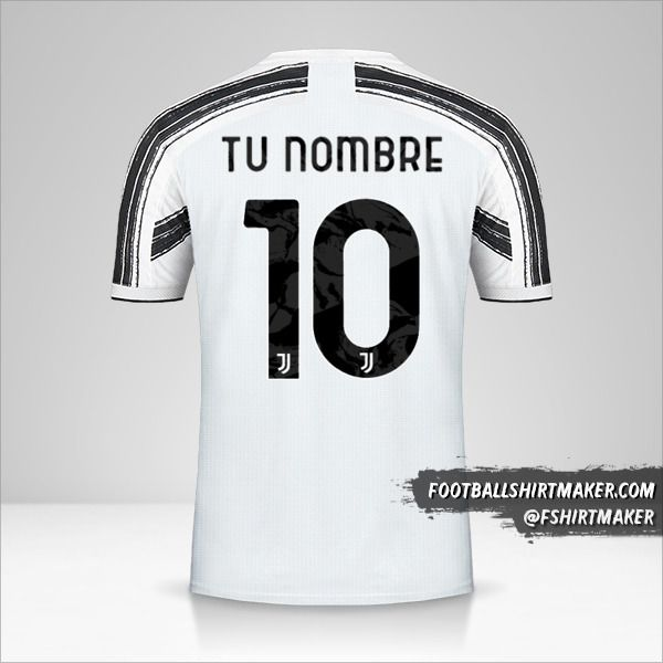Camiseta Juventus FC 2020/21 Cup número 10 tu nombre